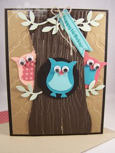 Owl punch Birthday Card, Dress them how you like  www.stampingcountry.com Where Creativity Blooms