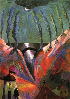 """""""Fantastic Night"""" by Marianne von Werefkin, 1917"""
