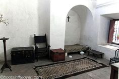 Nun's cell in Convento Santa Catalina, Arequipa, Peru, from the super-fantastic blog Boots in the Oven. http://www.bootsintheoven.com/boots_in_the_oven/2011/06/arequipa-town-time.html