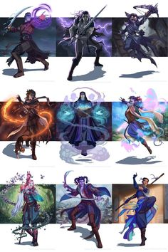 """""""Playing around with the layout for all of the This is the first time I've gotten to assemble them all! The order may change a bit, but this is basically what the Gen Con exclusive Limited Edition print will look like. Critical Role Characters, Critical Role Fan Art, D D Characters, Fantasy Characters, Critical Role Comic, Character Concept, Character Art, Character Design, Style Badass"""