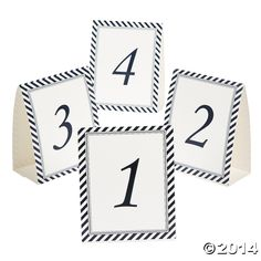 Nautical table number cards