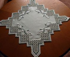 Hardanger Embroidered Tablecloth Lily of The Valley 100 Handmade New | eBay