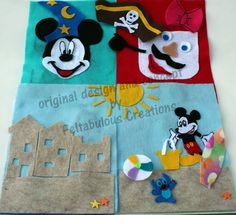 Mickey and Minnie themed 8 page Quiet Book - Busy Book - Kids - Disney by FeltabulousCreations on Etsy
