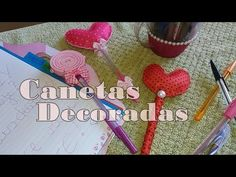 DIY: Canetas decoradas (Parte1) #CoisasDaGéssica - YouTube