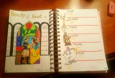 Beauty and the beast weekly spread bullet journal disney #beautyandthebeast #weeklyspread #bulletjournal #disney