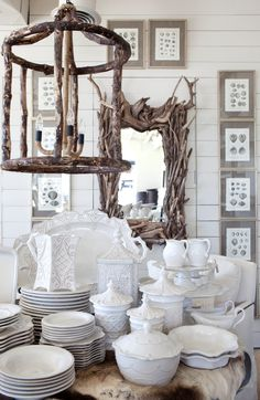 Juliska Beauty     ...and driftwood mirror frame