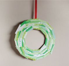 Easy Pattern Paper Christmas Wreath