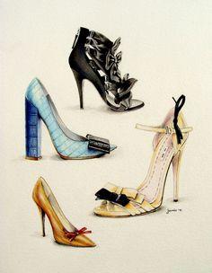 zapatos ilustrados - Janis Viktoriia