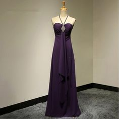 Elegant A-Line Sweetheart Purple Long Evening Dresses