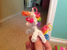 Rainbow loom unicorn charm! So cute