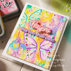 Hello friends, its Nina-Marie here with you today sharing inspiration using our Simon exclusive Outline Butterflies background, along with some … Butterfly Background, Butterfly Cards, Card Making Inspiration, Making Ideas, Simon Says Stamp Blog, Distress Oxide Ink, Card Maker, Ink Pads, Clear Stamps