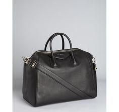 Givenchy black leather 'Antigona' convertible tote