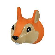 Schattig kinderkapstokje in de vorm van een eekhoornhoofd; leuk te combineren met de andere bosdieren kapstokjes van the Zoo.