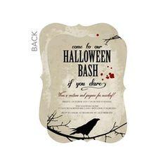 Raven Shadow Halloween Invitations