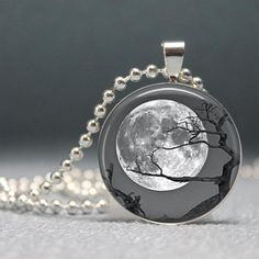 I found 'Tree under a Moon, Altered Art Pendant, Photo Pendant, Glass Dome Pendant with Ball Chain - no. 982-13' on Wish, check it out!