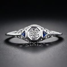 Petite Diamond Engagement Diamond Ring - 10-1-4889 - Lang Antiques