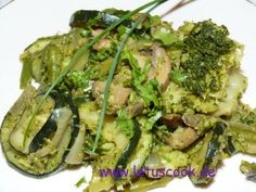 Auberginen mit Walnüssen  -  ყაბაყისა და ბროკოლის ცხელი სალათი