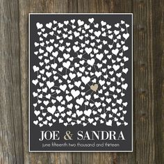 Wedding Guestbook Alternative // Modern Wedding Guest Book Alternative Art Print // Guestbook Poster // Personalized // 18x24 // 160 Guests