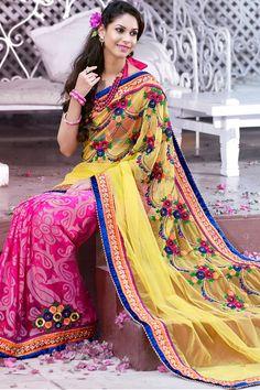New Indian Bollywood Designer Wedding Saree Fancy Sari Ethnic cultural Ethnic Fashion, Indian Fashion, Saree Fashion, Women's Fashion, Wedding Saree Collection, Wedding Silk Saree, Bridal Sarees, Indian Sarees Online, Indian Online