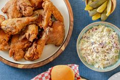 Get Summertime Fried Chicken Dinner Recipe from Food Network Creamy Coleslaw, Coleslaw Mix, Turkey Recipes, Chicken Recipes, Dinner Recipes, Chicken Meals, Restaurant Recipes, Yummy Recipes, Food Network Recipes