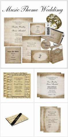 Music Wedding Theme