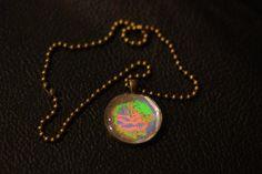 vintage hologram pendant