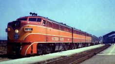 Southern Pacific Alco PA1s with the Cascade Daylight.