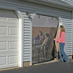 Garage door screen kits top quality easy install garage shelterlogic quick screen single garage enclosure kit 9 x 8 overtons repinned for bellas solutioingenieria Gallery