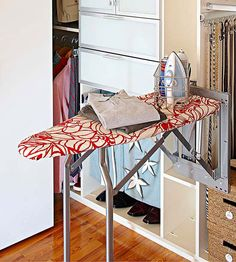 Superb A Retractable Ironing Board Frees Space In The Laundry Room And Puts  Function Right Where Itu0027s Needed.