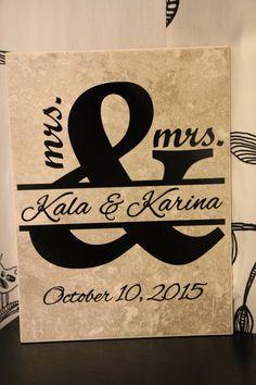 Mrs & Mrs Mr Mr Lesbian Wedding Gay Wedding by EntropySigns