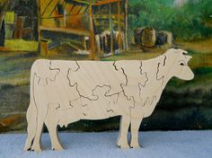 Wooden Cow Puzzle by MiracleCraft on Etsy