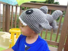 Custom Shark Crochet Hat  Newborn to Adult by AMKCrochet on Etsy, $30.00