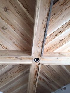 Gorgeous ceiling submitted by Natasha Tessier made from salvaged pecky cypress from Southern Accents Architectural Antiques - www.sa1969.com