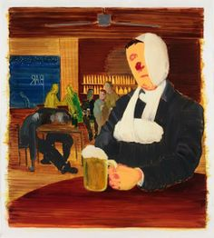 Louis : Nicole Eisenman, Half King, Oil and ink on paper, 58 1 4 x 53 inches. Courtesy the artist and Koenig & Clinton, Ne. Institute Of Contemporary Art, Contemporary Paintings, Heart Art, Conceptual Art, American Artists, Art School, Art Inspo, Home Art, Art Museum