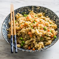 Cauliflower Fried Rice – Healthy and Amazing! #keto  switch veggies to low carb options - maybe add 2 eggs instead of one