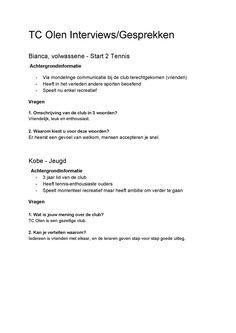 Interview/gesprekken (1/3)