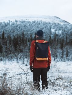 Wau beanie of merino wool and Pahi backpack of recycled materials by COSTO. Photograph by Sanni Vierelä in Finnish Lapland Bradley Mountain, Recycled Materials, Ecology, Merino Wool, Photograph, Beanie, Backpacks, Bags, Accessories