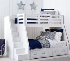 Belden Twin-over-Full Stairloft Bunk | Pottery Barn Kids