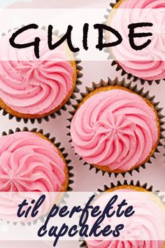 En cupcake er en fantastisk, lille kage, som du meget nemt kan bage og pynte, og den vække stor glæde. Før du går i gang, så har vi lige nogle små fif som vi gerne vil dele med dig.  Du kan købe alt pynt, tyller, sprøjteposer mm. hos Bagetid.dk. Desserts, Blogging, Tailgate Desserts, Dessert, Postres, Deserts
