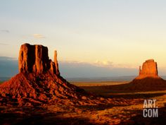 Monument Valley in Late Afternoon Photographic Print by Douglas Steakley at Art.com