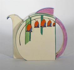 'Soloman's Seal' a Clarice Cliff Bizarre Stamford teapot