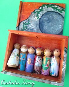 wooden resurrection set for kids