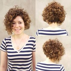 Short haircut. Bob Haircut Curly, Short Curly Haircuts, Curly Hair Cuts, Short Curly Styles, Short Haircut, Curly Angled Bobs, Kinky Curly Wigs, Corte Y Color, Short Hair Cuts For Women