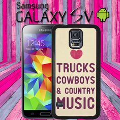 Country Girly Love Trucks Country Music Samsung Galaxy S5 S V  Hard Snap On