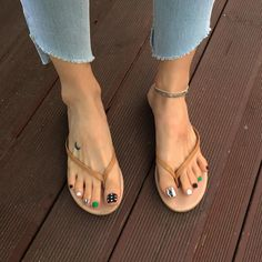 A mix and match pedi for my toes. Loving this cute cute nail art design on my to. Pretty Toe Nails, Cute Toe Nails, Pretty Toes, Toe Nail Art, Fall Nail Art Designs, Toe Nail Designs, Nail Polish Designs, Stylish Nails, Trendy Nails