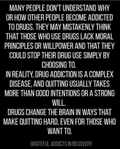 There are some scary things in our world today, but none is more scary than an addiction to drugs and alcohol. It's a growing problem in our society, and alcohol and drug addiction has become a tough nut to crack, so to speak. Drugs and alcohol make. Drug Quotes, Relapse Quotes, Sobriety Quotes, Sobriety Gifts, Prayer Quotes, Life Quotes, Nicotine Addiction, Addiction Alcohol, Addiction Recovery Quotes