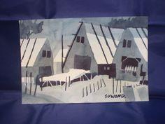 Watercolor Painting Original Signed Artist Water Color Landscape art  #Impressionism