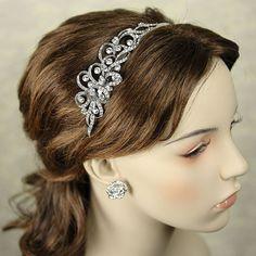 art deco rhinestone headband