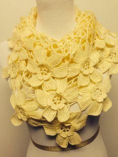 Cream crochet shawl scarf, Shawls, Women shawl scarf, Crochet shawl, Cream shawls, Handmade scarf, Summer shawls scarves, Gifts on Etsy, $40.00
