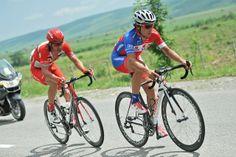 Primoz ROGLIC ( SLO / Adria Mobil ) with William WALKER ( AUS / Drapac Pro Cycling Team )    © Photo: Mario Stiehl #TourDAz #bicycle #cycling #bike #keepcycling #cyclist #finish #Synergy #Baku #Azerbaijan